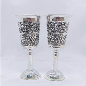 Stylish and Pure Silver Wine Glasses in fine Antiq...