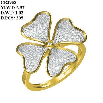 916 Gold Flower Design ring For Women MK-R01 by