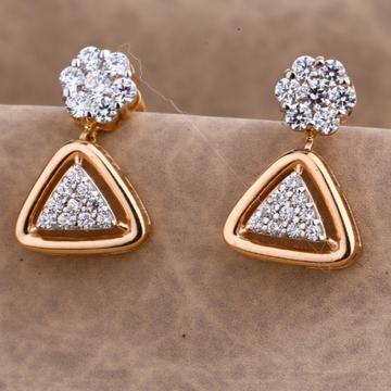18 carat rose gold Designer Ladies earrings RH-LE5...
