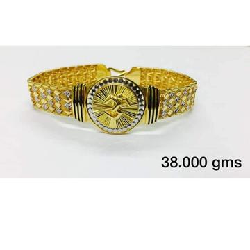 22 carat gold gents om bracelet kada rH-bT206