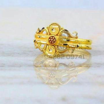 Fancy Plain Gold Ladies Ring LRG -0832