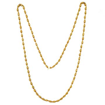 1 gram gold forming tulsi mala chain mga - tle0001