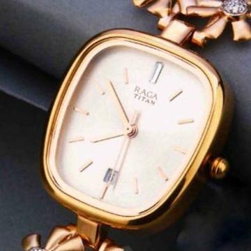 18KT Rose Gold fancy flower Belt watch for ladies by
