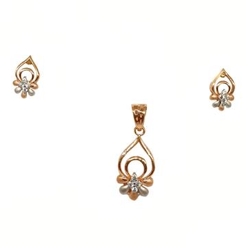18K Rose Gold Designer Pendant Set MGA - PTG0143