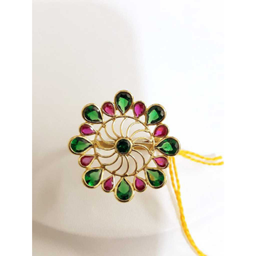 Gold Rajwadi Style Ring