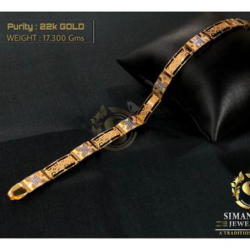 916 gold hallmark elegant bracelet by Simandhar Jewellers