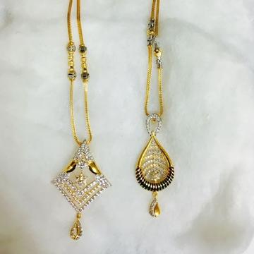 Gold cz chain pendant set cps-0002