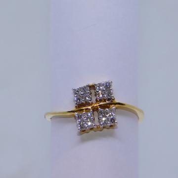 18K gold diamond ring agj-lr-124