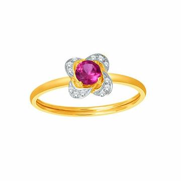 18k gold real diamond ring mga - rdr0034