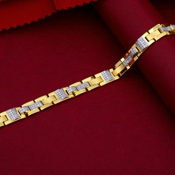 22KT Gold Stylish Classic Bracelet For Men