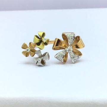 rose gold fancy flower ladies ring