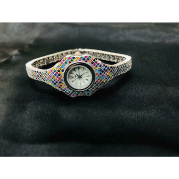 92.5 Sterling Silver Kada Lock Type Watch Ms-3874