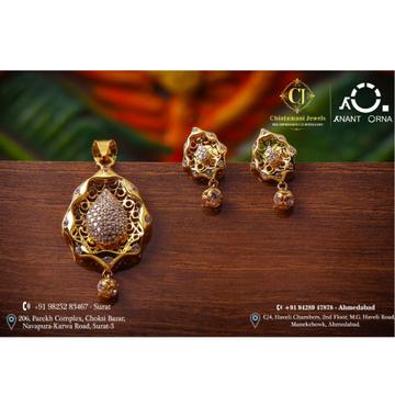 18K Gold Designer Pendant Set by Anant Orna