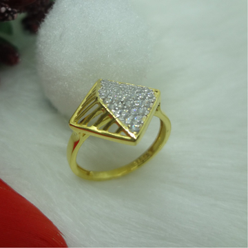916 GOLD CZ DAIMOND  LADIES RING