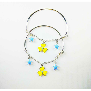 Latest 925 silver baby bracelet with flower and heart shape