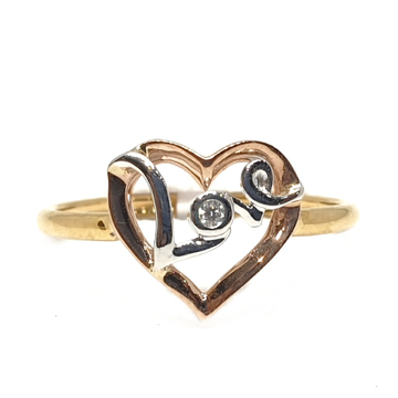 18k gold rose gold real diamond ring mga - rdr0048