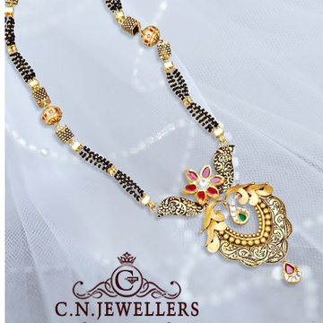ANTIQUE JADTAR CHECKKERS MANGALSUTRA 916 by