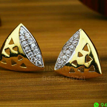 18kt triangle Shape Cz Gold Ladies Tops ATG -0661