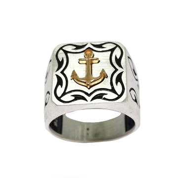 925 Sterling Silver Fancy Gents Ring MGA - GRS2504
