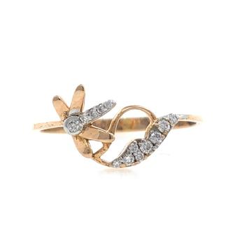 18kt / 750 rose gold Diamond Ring for Ladies 9LR21...