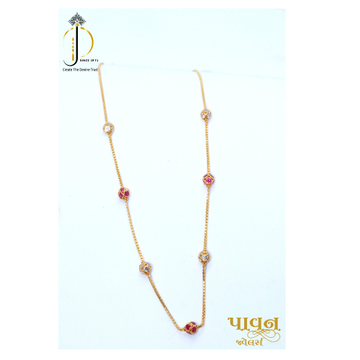22/20 KT Gold Color stone Delicate Mala For Ladies CHG0264