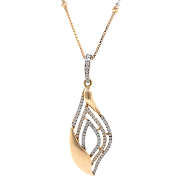 Merveilleuse Diamond Pendant in rose gold 9SHP1