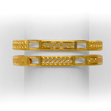 GOLD FANCY DESIGNED COPPER KADLI BANGLE