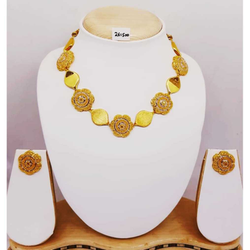 916 gold turkish fancynecklace set for wedding bj-n03