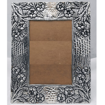 Pure Silver Photo Frame In Antique Nakashii work P... by Puran Ornaments