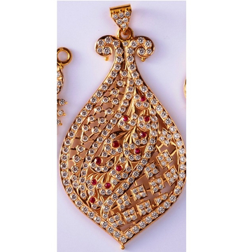 22kt gold cz Close Setting Light Weight fancy pendant for women mv-p09