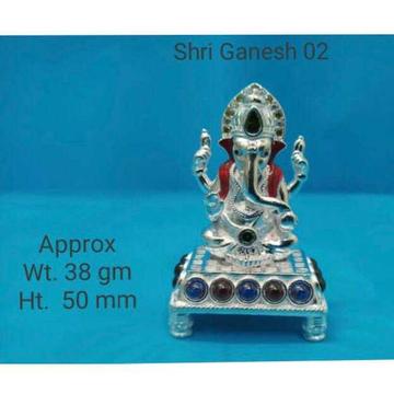 Vaccum Casting Dimond Mina Cholel Nakshi Dull Finishing Ganpatiji Murti(Bhagvan,God,Idols) Ms-2183