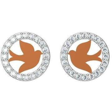 18kt cz rose gold diamond earrings