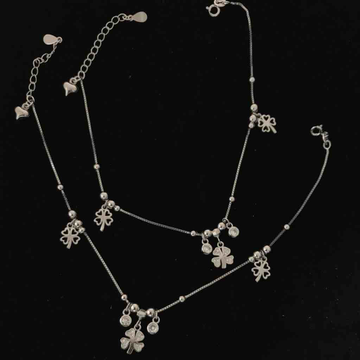 925 sterling silver Italian Payal (anklets) by Veer Jewels