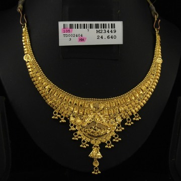 22Kt Gold Traditional Necklace Set by