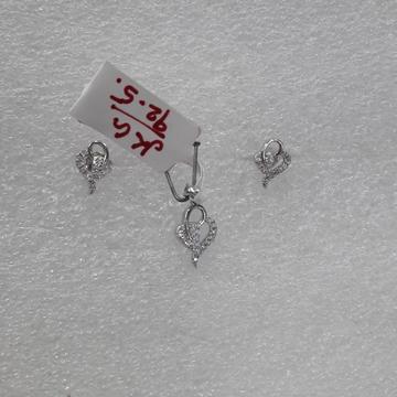 Silver 92.5 Pendats set by Shree Kesar Gold Palace