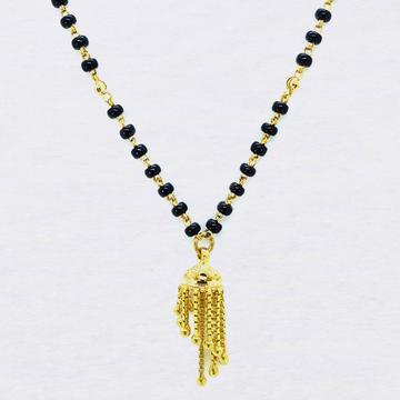 916 gold black beads dokiya mangalsutra sk-m001 by