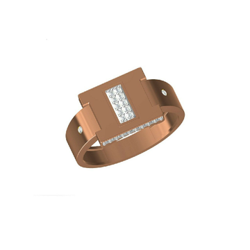 Gents 18Kt Fancy Simple Rose Gold Ring-31323