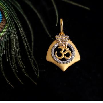 916 gold cZ god design Pendant
