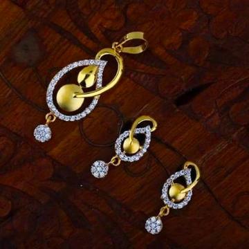 916gold Cz chain pendal set