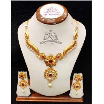 22 carat gold traditional ladies necklace set RH-LS509