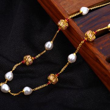 916 Gold Hallmark Delicate Antique Chain Mala AC19...