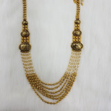 22KT Gold Expensive Long Moti Mala For Women