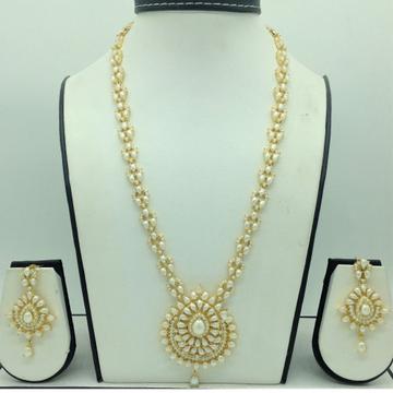 Freshwater White Pearls Long Haar Set JNC0159