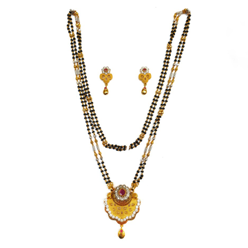 One gram gold forming fancy mangalsutra mga - mse0120