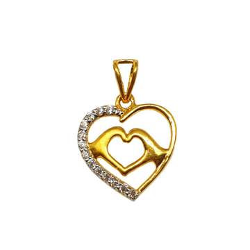 22K Gold Heart Shape Pendant MGA - PDG1186