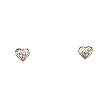 18K Rose Gold Heart  Shape Earrings MGA - BTG0218