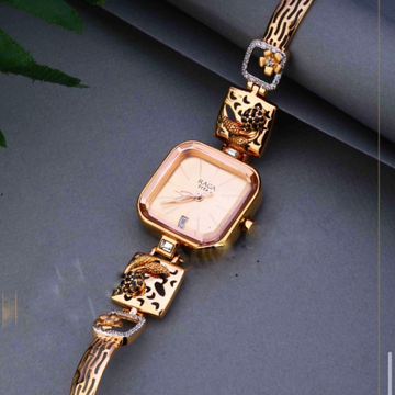 18KT Rose Gold ethically square watch for ladies by