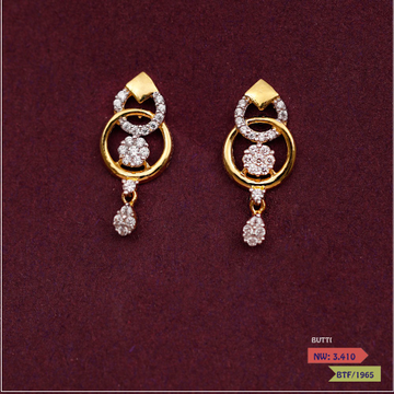 CZ CLASSIC ROUND EARRING