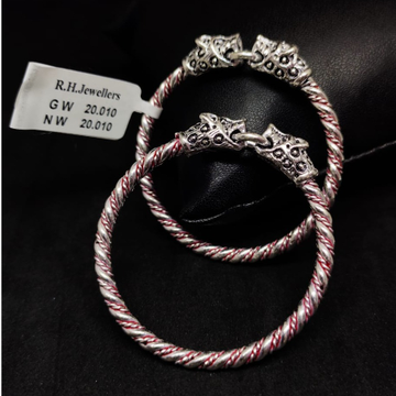 silver fancy kids kada rH-KK601