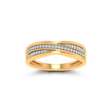 22KT Gold CZ Fancy Ladies Ring JK-LR002